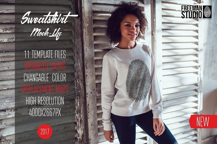 Sweatshirt Mock-Up Vol.2 2017