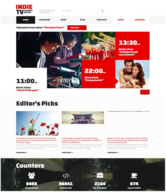 TV Channel Media Responsive Joomla Template