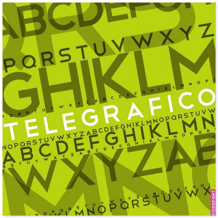 Telegrafico Font Free