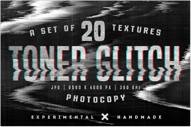 Glitch Photocopy Texture