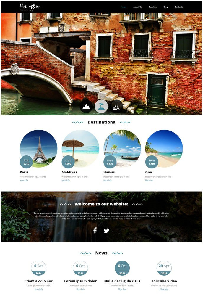 Travel Agency Responsive Drupal Template # 2