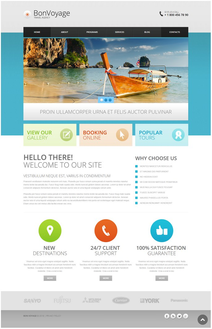 Travel Agency Responsive Drupal Template # 3