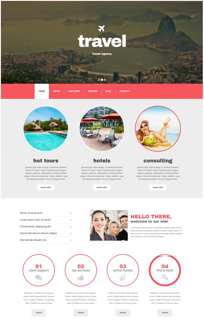 Travel Agency Responsive Drupal Template