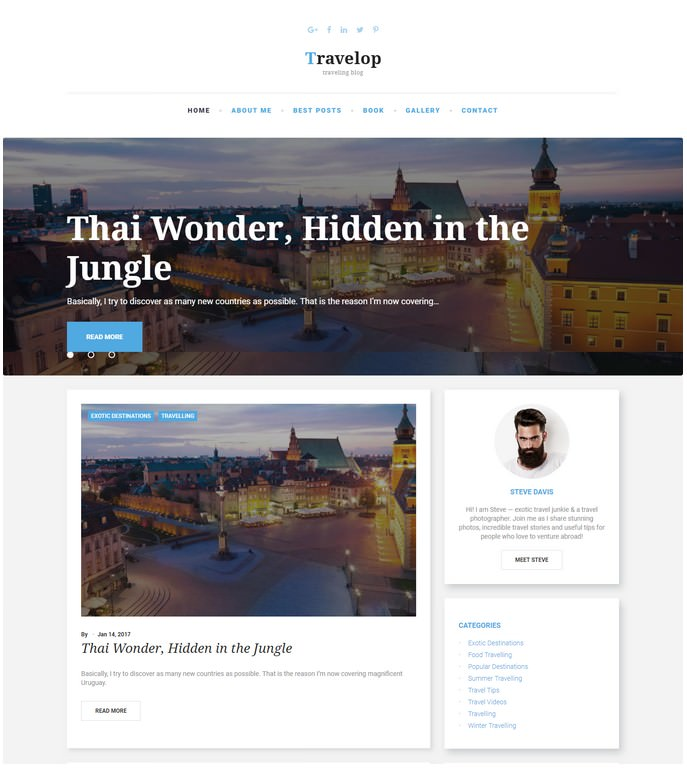 Travelop - Traveling Blog Drupal Template