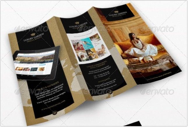 Tri-fold Contemporary Hotel Brochure