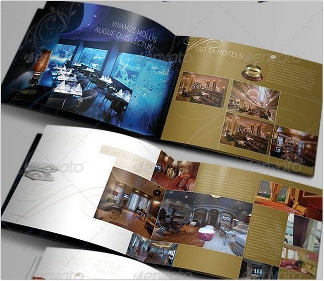 Unique Hotel Brochure Template