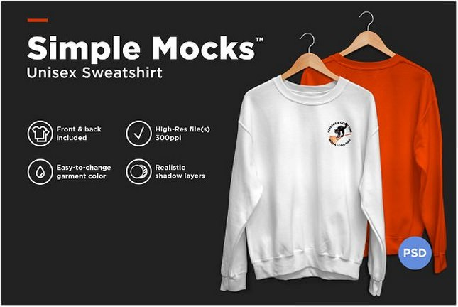 30 Top Sweatshirt Mockups In PSD Templates 2018 Templatefor