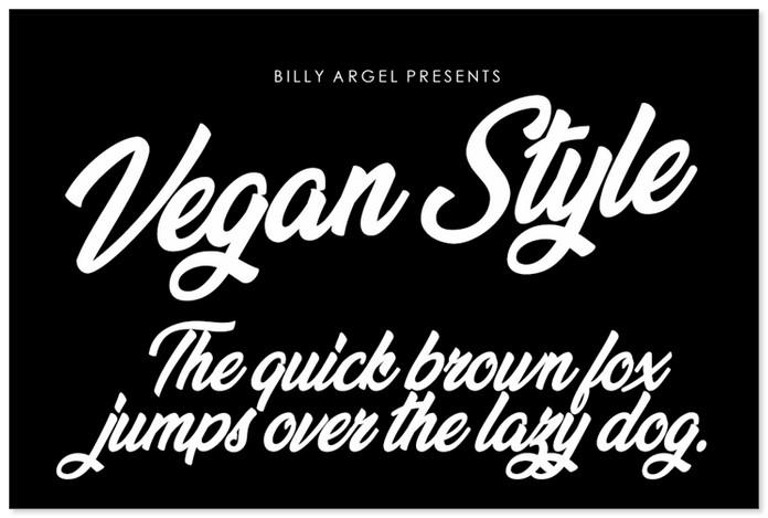 Vegan Style Decorative Font