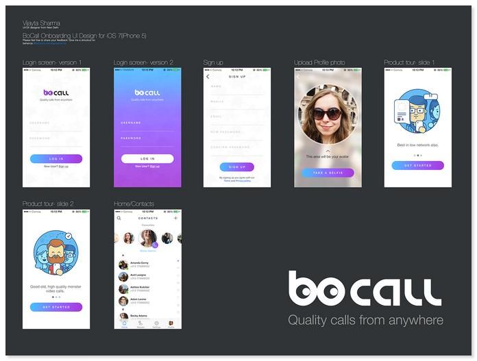 Video Chat App Ui/Ux design