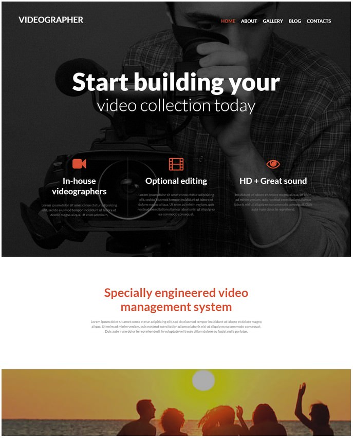 Videographer Media Services Joomla Template