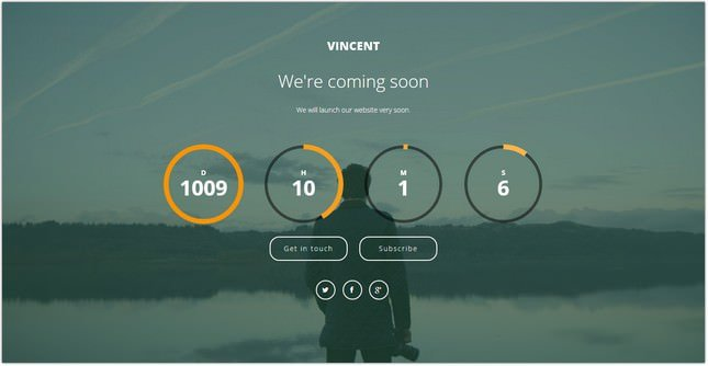Vincent - Coming Soon Template