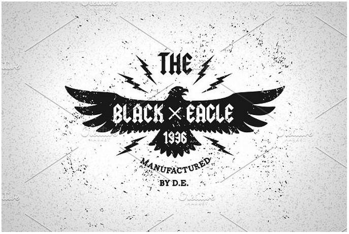 Vintage Label Black Eagle