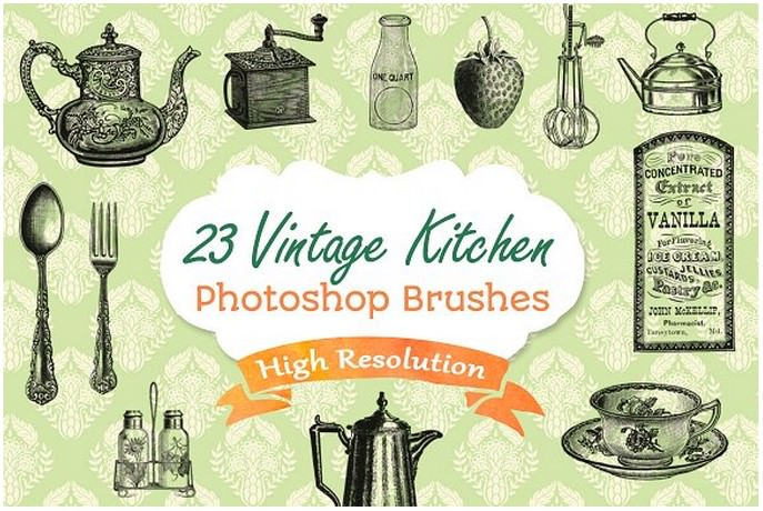 Vintage Retro Kitchen Illustrations