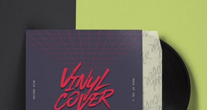 Vinyl Cover Record Mockup Vol4