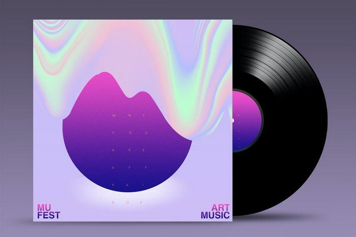 Vinyl Mock Up Template