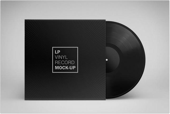 Vinyl Record Album Mock-Up