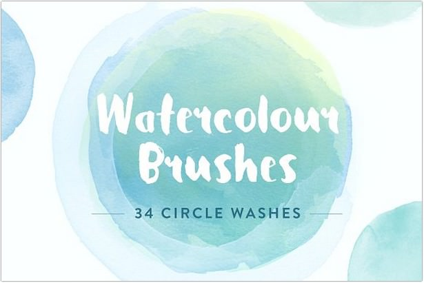 Watercolor Circle Brushe