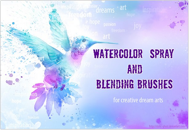 Watercolor brushes for creative arts