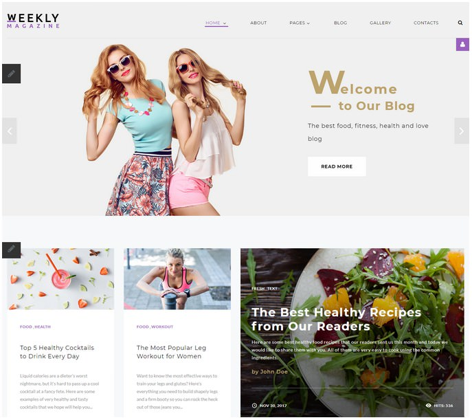 Weekly Magazine - Media Joomla Template