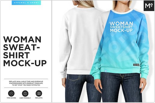 Women Sweatshirt Mockup