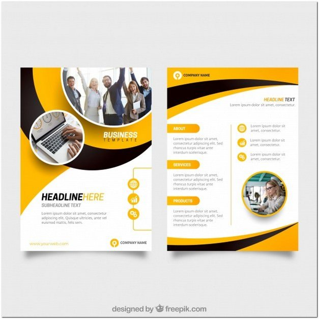 Yellow And Black Business Flyer