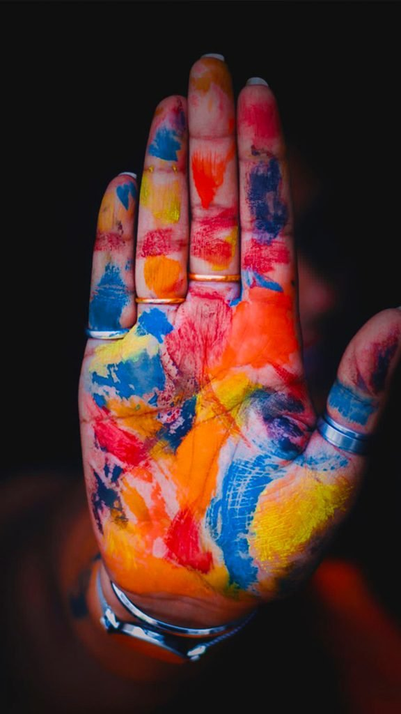 1080 × 1920 Cool Colorful Hand iPhone 6 Wallpapers