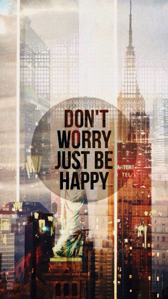 1080 × 1920 Motivationa Be Happy iPhone HD Wallpapers