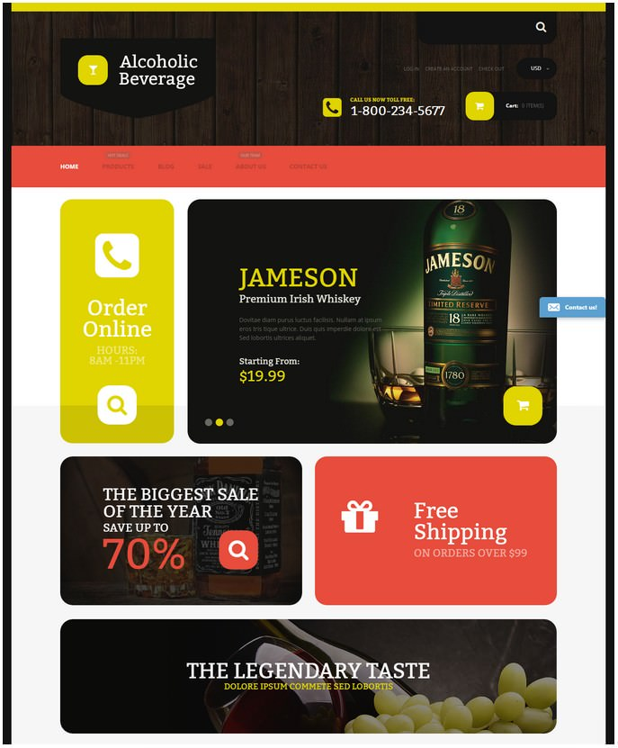 Alcoholic Beverage Store Free Template