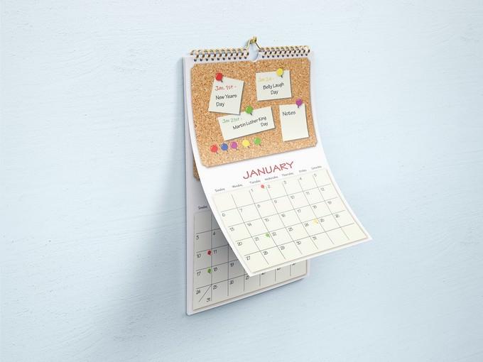 2019 Calendar Design and Mockup