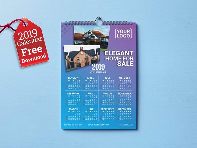 2019 Calendar Free