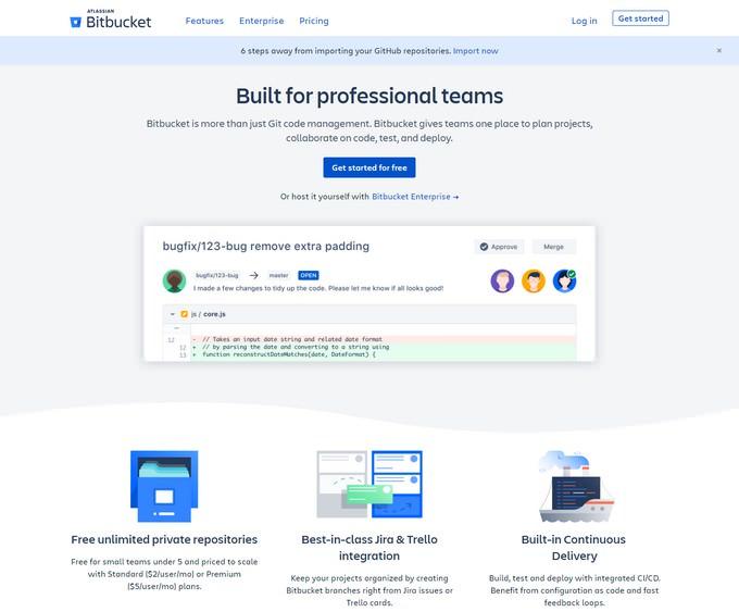 2 GitLab Alternatives-Bitbucket