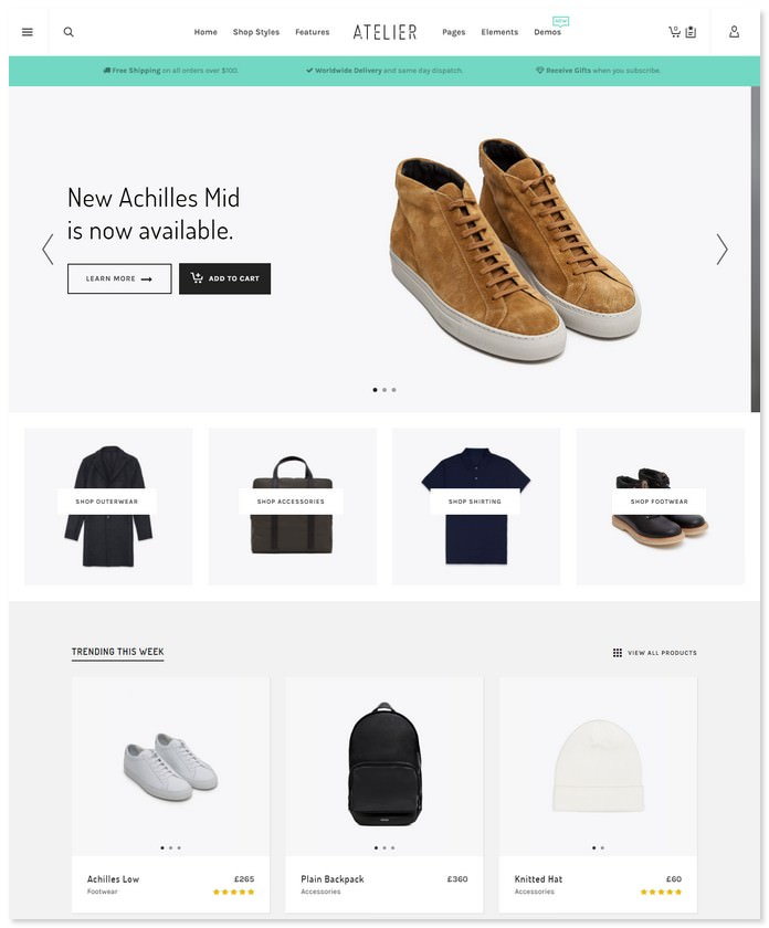Atelier - Creative eCommerce Bootstrap Theme
