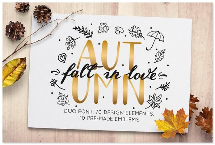 Autumn - Fall in Love Font Fuo