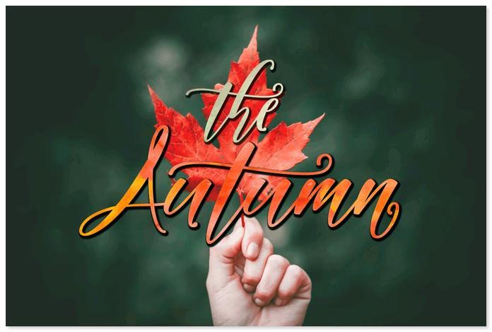Autumn Font by Meutuwah