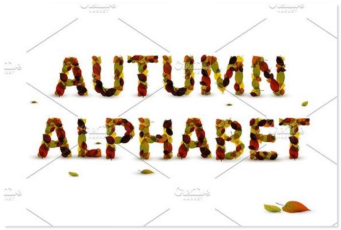 Autumn Leaf Alphabet