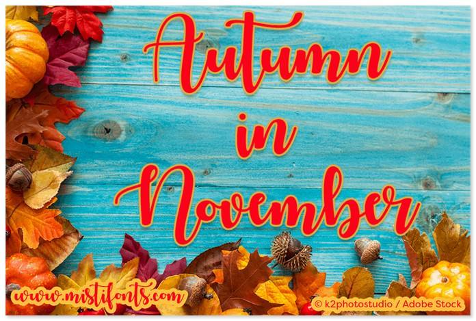 Autumn in November Font