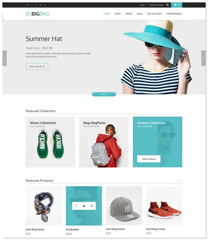 BigBag Store - Elegant Ecommerce Bootstrap Theme