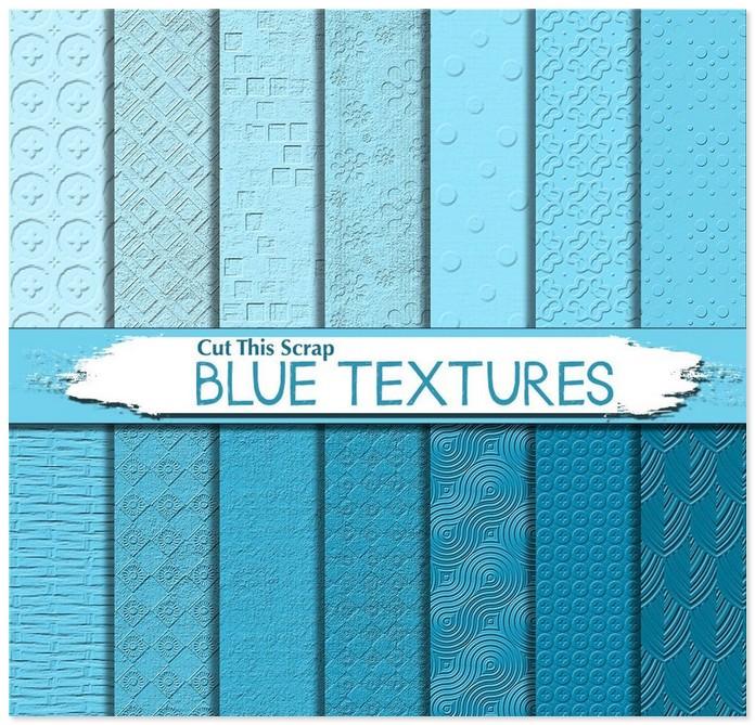 Blue Textured Digital Paper