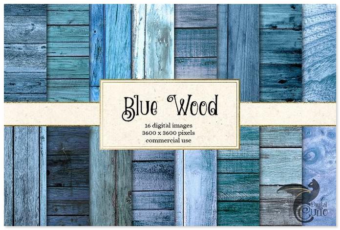 Blue Wood Textures