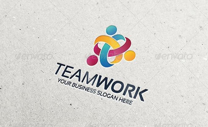 Business Team Work Logo Template