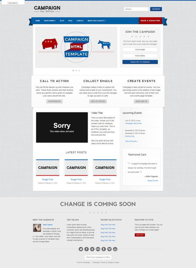 Campaign - Political HTML Template