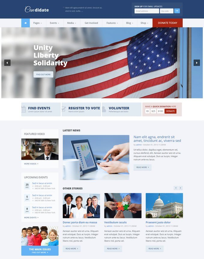 Candidate - Political HTML Theme