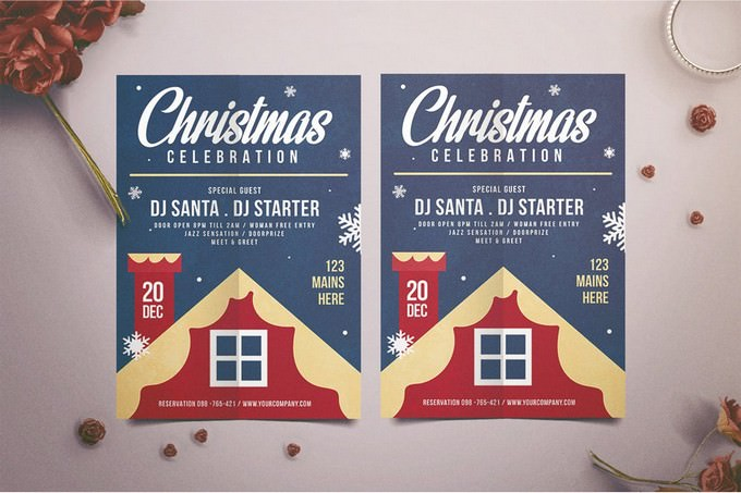 Celebration of Christmas Party Flyer