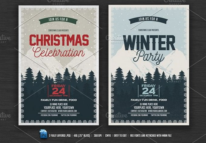 Christmas Celebration Party Flyer