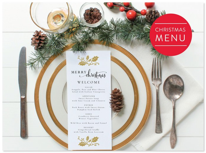 Christmas Menu-Holiday Menu