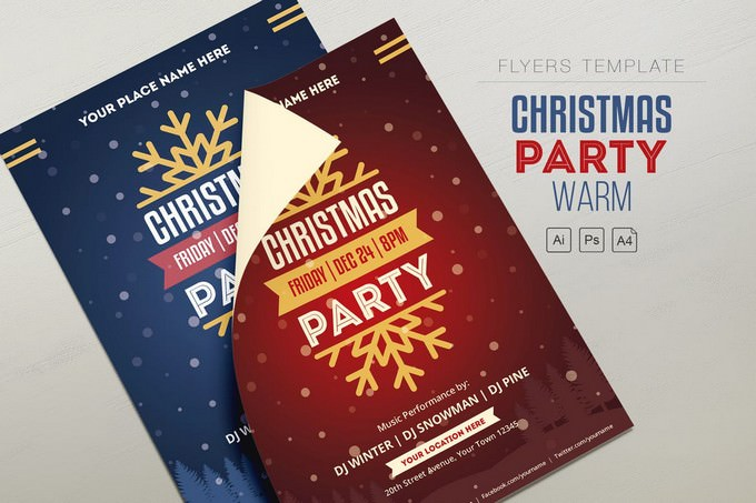 Christmas-Party Flyer