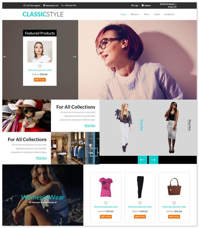 Classic Style - E commerce Bootstrap Template