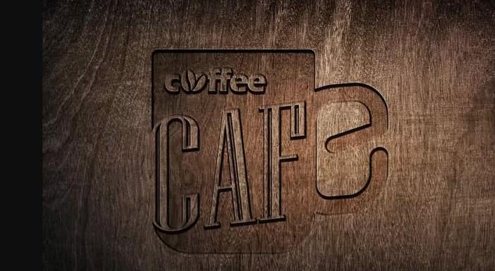 Coffee Wooden Logo Mockup