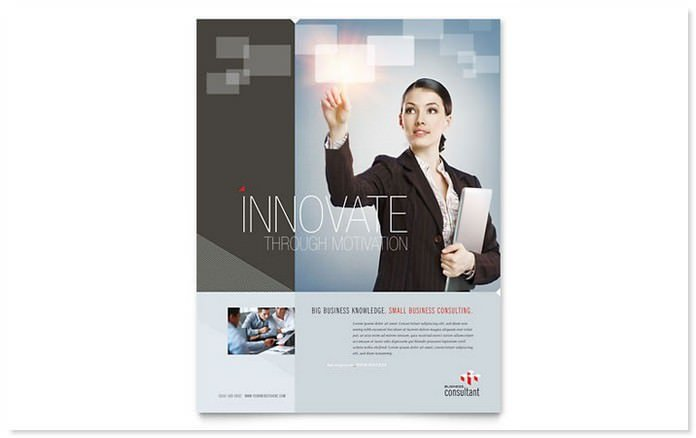 Corporate Strategy Corporate Business Flyer Template