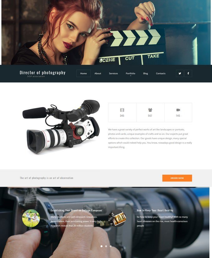 Director of Photography Portfolio Theme